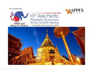 Asia Pacific Paediatric Endocrine Society (APPES) Scientific Meeting 7-10 November 2018