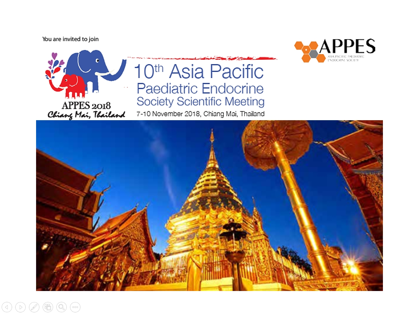 Asia Pacific Paediatric Endocrine Society (APPES) Scientific Meeting 7-10 November 2018