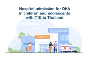 Hospital admission for DKA in children and adolescents with T1D in Thailand